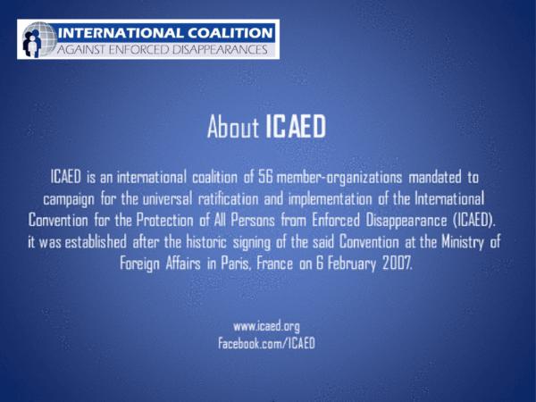 IDHEAS recibe invitación para ser parte de la Coalición Internacional contra las Desapariciones Forzadas