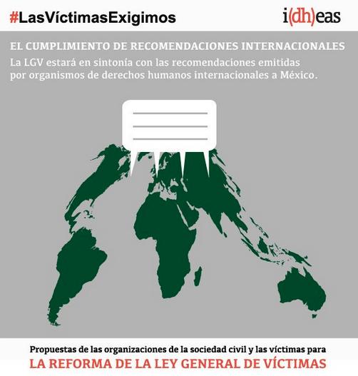 #LasVíctimasExigimos