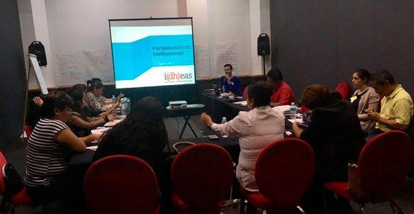 Idheas imparte Taller sobre Desarrollo Institucional a colectivos de familiares de personas desaparecidas