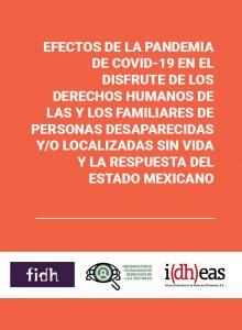 Efectos de la pandemia de Covid-19 en el disfrute de los Derechos Humanos de las y los familiares de personas desaparecidas y/o localizadas sin vida y la respuesta del Estado Mexicano
