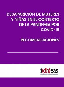 Desaparición de niñas y mujeres en el contexto de la pandemia por Covid-19